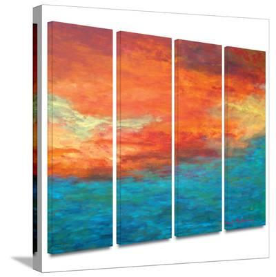 Lake Reflections II 4 piece gallery-wrapped canvas-Herb Dickinson-Gallery Wrapped Canvas Set