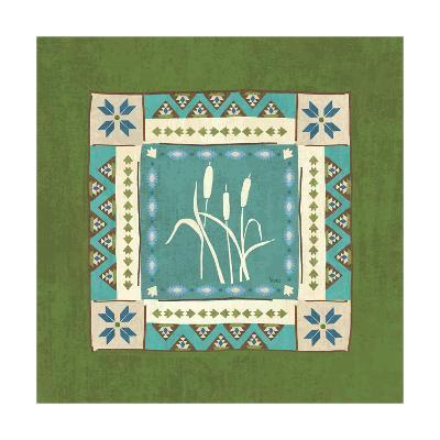 Lake Retreat Tile IV-Veronique Charron-Art Print