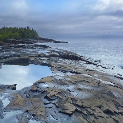 Lake Superior, Artists Point Grand Marais, Minnesota-Tim Fitzharris-Photographic Print