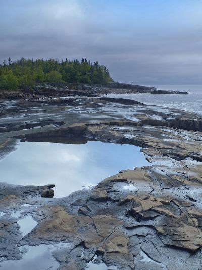 Lake Superior at Artists Point Grand Marais, Minnesota-Tim Fitzharris-Photographic Print