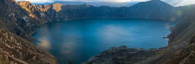 Lake Surrounded by Mountains, Quilotoa, Andes, Cotopaxi Province, Ecuador