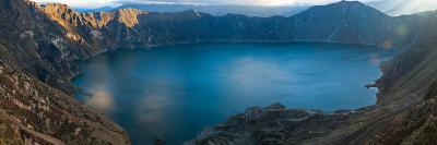 Lake Surrounded by Mountains, Quilotoa, Andes, Cotopaxi Province, Ecuador--Photographic Print