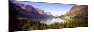 Lake Surrounded by Mountains, St. Mary Lake, Glacier National Park, Montana, USA