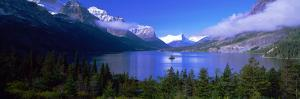 Lake Surrounded by Mountains, St. Mary Lake, Glacier National Park, Montana, USA