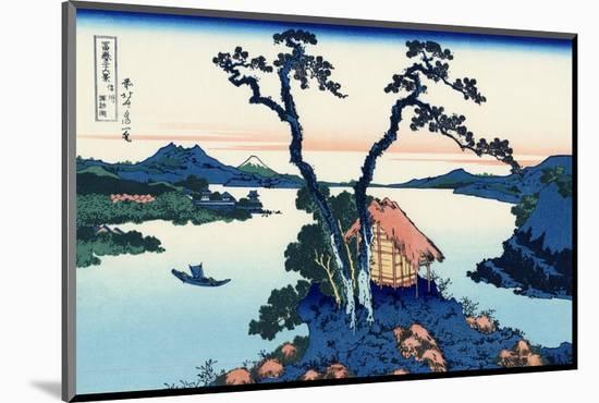 Lake Suwa in the Shinano Province-Katsushika Hokusai-Mounted Premium Giclee Print