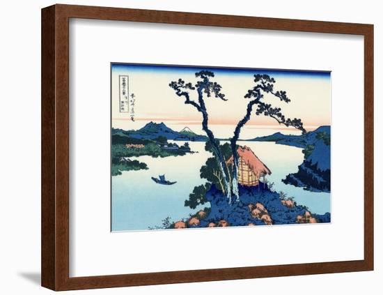 Lake Suwa in the Shinano Province-Katsushika Hokusai-Framed Giclee Print