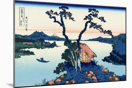 Lake Suwa in the Shinano Province-Katsushika Hokusai-Mounted Giclee Print