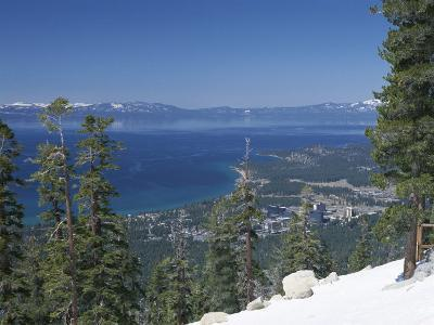 Lake Tahoe and Town on California and Nevada State Line, USA-Adam Swaine-Photographic Print