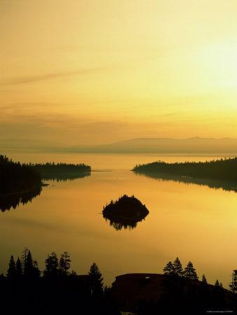 Lake Tahoe at Dawn, Tahoe, Nevada, USA-Steve Vidler-Photographic Print