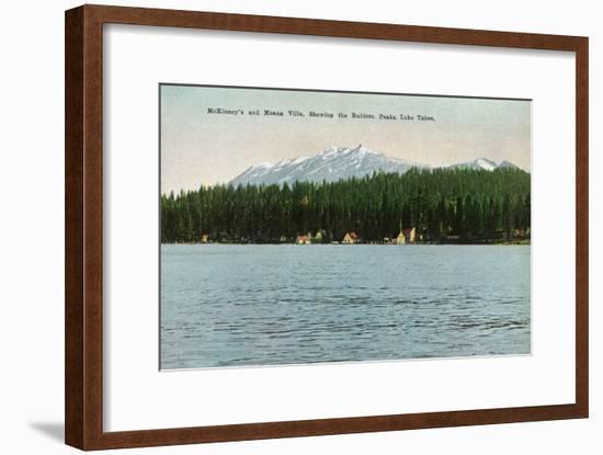 Lake Tahoe, California - McKinney, Moana Villas Showing the Rubicon Peaks-Lantern Press-Framed Art Print
