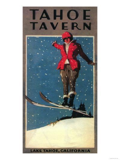 Lake Tahoe, California - Tahoe Tavern Promo Poster-Lantern Press-Art Print
