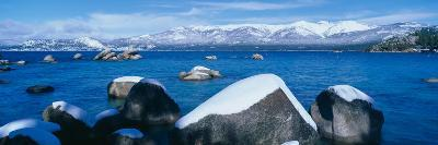 Lake Tahoe in Winter, California--Photographic Print