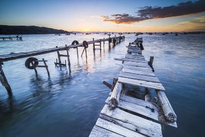 Lake Titicaca Pier at Sunset, Copacabana, Bolivia, South America-Matthew Williams-Ellis-Photographic Print