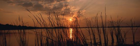 Lake Travis at Sunset, Austin, Texas--Photographic Print