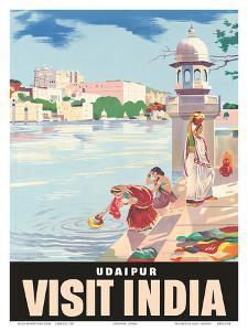 Lake Udaipur: Visit India, c.1957