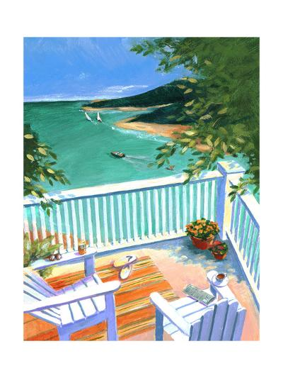 Lake View from the Terrace--Art Print
