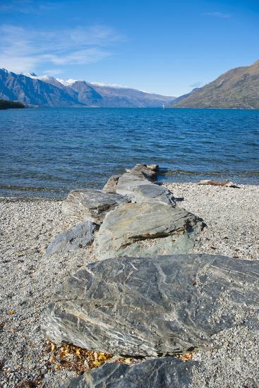 Lake Wakatipu at Queenstown, Otago, South Island, New Zealand, Pacific-Matthew Williams-Ellis-Photographic Print