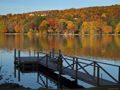 Lake Waramaug, Connecticut, New England, USA-Demetrio Carrasco-Photographic Print