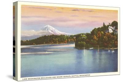 Lake Washington Boulevard and Mt. Rainier, Washington