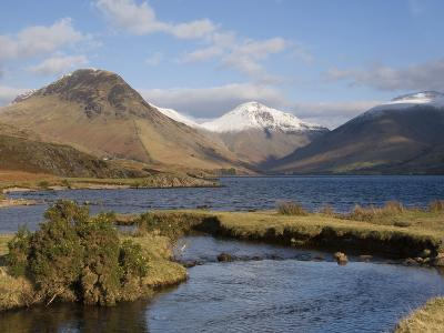 Lake Wastwater, Yewbarrow, Great Gable and Lingmell, Wasdale, Lake District National Park, Cumbria,-James Emmerson-Photographic Print