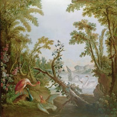 Lake with Swans, a Flamingo and Various Birds, from the Salon of Gilles Demarteau, C.1750-65-Francois Boucher-Giclee Print