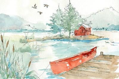 Lakehouse II Red-Anne Tavoletti-Art Print