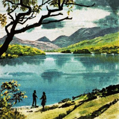 Lakes of Killarney, Country Kerry-English School-Giclee Print