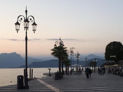 Lakeside Evening at Lazise, Lake Garda, Veneto, Italy, Europe-James Emmerson-Photographic Print