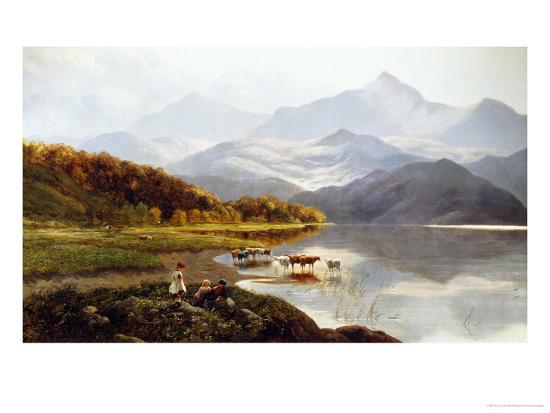 Lakeside Gathering-Henry John Boddington-Giclee Print