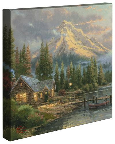 Lakeside Hideaway-Thomas Kinkade-Gallery Wrapped Canvas