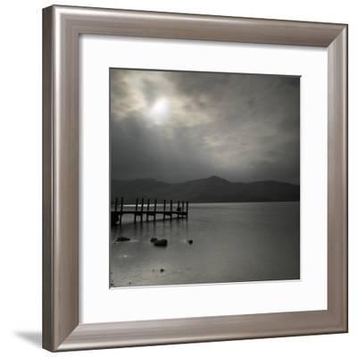 Lakeside Pier 002-Tom Quartermaine-Framed Giclee Print