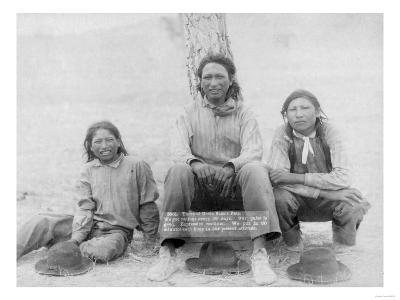 Lakota Indian Teenagers in Western Dress Photograph - Pine Ridge, SD-Lantern Press-Art Print