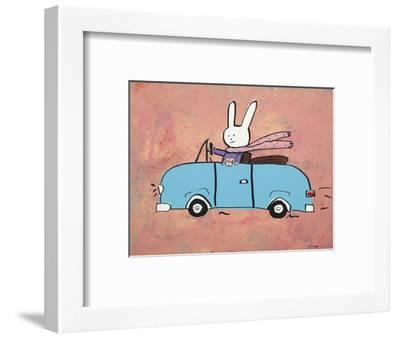 Lala knows she shouldn't text and drive...-Brian Nash-Framed Art Print
