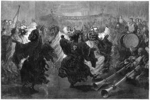 Lama Dance at Jummoo, Performed before the Prince of Wales, 1876