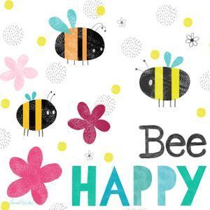 Bee Happy I Square by Lamai McCartan