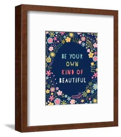 Floral Quote IV Indigo