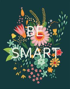 Groovy Florals I Be Smart by Lamai McCartan