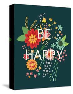 Groovy Florals II Be Happy by Lamai McCartan