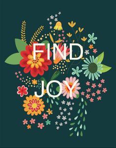 Groovy Florals II Find Joy by Lamai McCartan