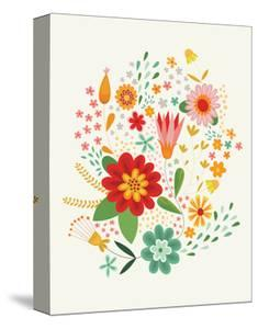 Groovy Florals III on Cream v2 by Lamai McCartan