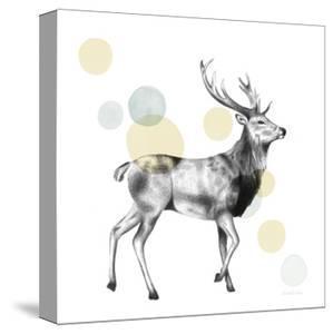 Sketchbook Lodge Stag Neutral by Lamai McCartan