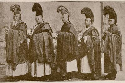 Lamas in Choral Dress, from 'Grandeur and Supremacy of Peking'-Alphonse Hubrecht-Photographic Print