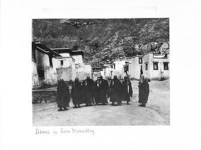 Lamas in Sera Monastery, Lhasa, Tibet, 1903-04-John Claude White-Giclee Print