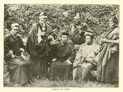 Lamas of Tibet--Giclee Print