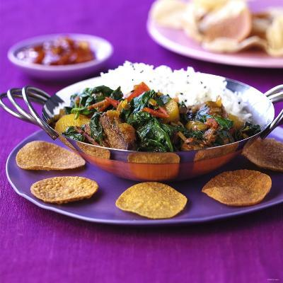 Lamb Curry with Spinach and Rice-Frank Wieder-Photographic Print