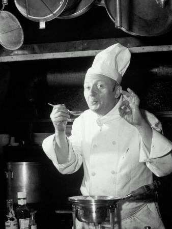 Chef Tasting Food, Ok Sign, 1942