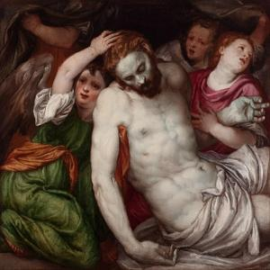 Pietà with Angels by Lambert Sustris