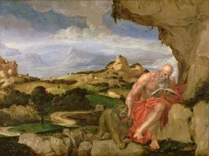 St. Jerome in the Wilderness, 16th Century by Lambert Sustris