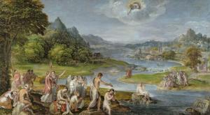 The Baptism of Christ by Lambert Sustris
