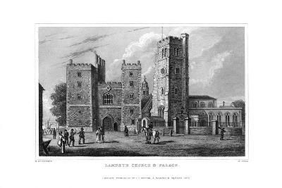 Lambeth Church and Palace, London, 1829-W Syms-Giclee Print